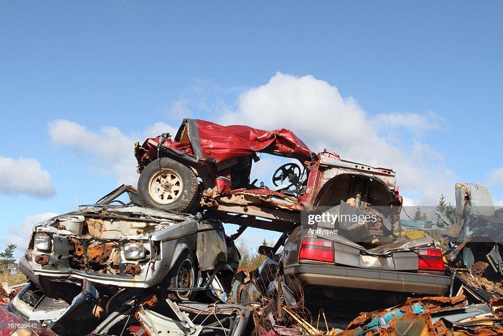 Scrap vehicles : Stock Photo