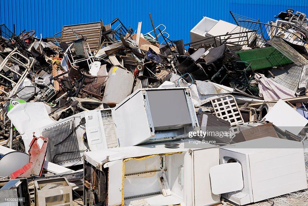 Scrap yard : Stock Photo
