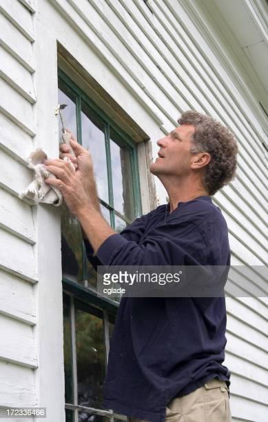 Racler fenêtres sur Old House