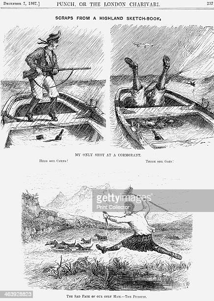 'Scraps from a Highland SketchBook' 1867 A lighthearted look at an inexpert marksman and a man who can see dinner disappearing at speed across the...