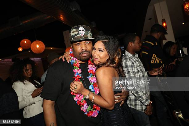 DJ Scratch and Angela Yee attend Angela Yee's Staycation Brunch on January 8 2017 in the Queens borough of New York City