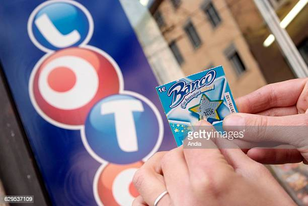 Scratchcard games of 'La Francaise des jeux' game of chance 'Banco' Game addiction National lottery games of chance games of chance scratchcard games...