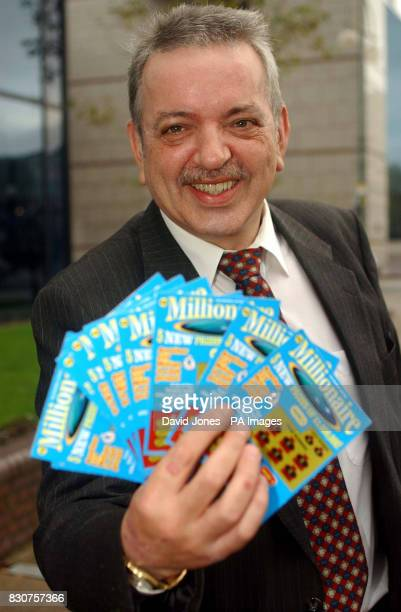 Scratchcard millionaire David Lynch collects his winnings at a hotel in Birmingham He and his partner Yvonne Julian were today preparing for a dream...