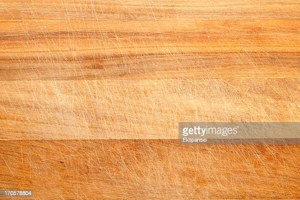 Scratched Breadboard or Cutting Board Background Texture