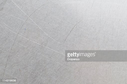 Scratched gray metal background