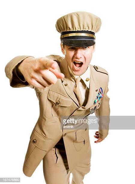 Screaming officer