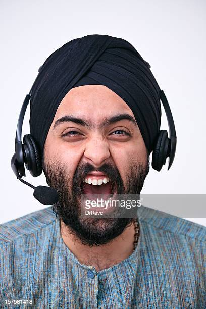 Screaming on the phone (headset)
