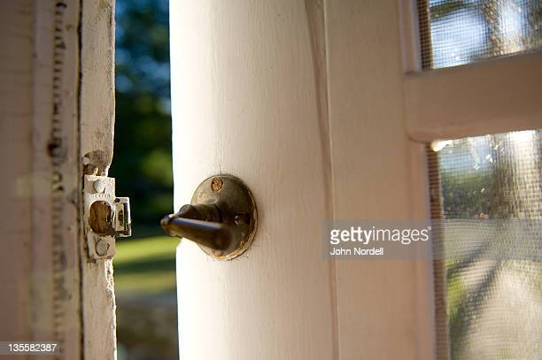 Screen door latch at an old summer home