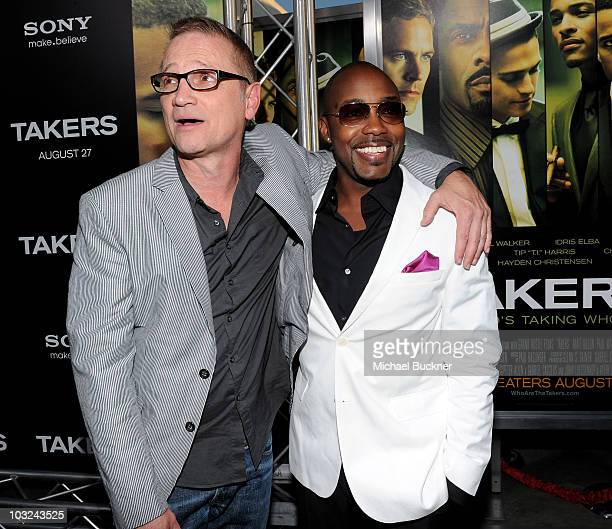 Screen Gem's Clint Culpepper and producer Will Packer arrive at the premiere of Screen Gems' 'Takers' at the Arclight Cinerama Dome on August 4 2010...