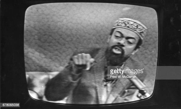 Screen grab of American poet and playwright Amiri Baraka as appears on an unspecified television program New York New York May 14 1966