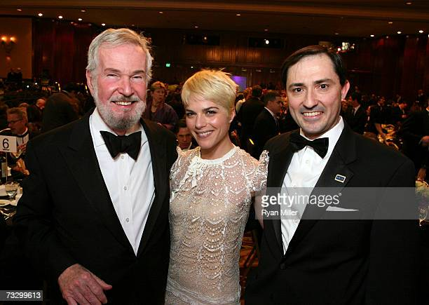 Screen laurel Award recipient Robert Benton Actress Selma Blair and WGA West President Patric M Verrone at the 2007 Writers Guild Awards held at the...
