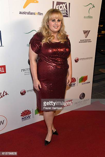 Screen NSW Kellermann Award Recipient Rebel Wilson attends Australians In Film's 5th Annual Awards Gala at NeueHouse Hollywood on October 19 2016 in...