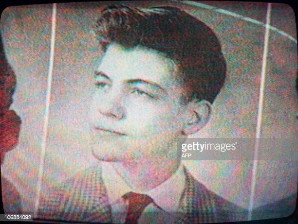 This photo taken from a Chicago television station shows Theodore Kaczynski in a 1958 Evergreen Illinois High School yearbook Kaczynski was detained...