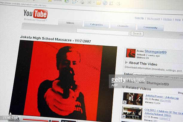 A screen shot made 07 November 2007 shows the You Tube video site showing a video allegedly posted 06 November 2007 by the gunman who killed earlier...