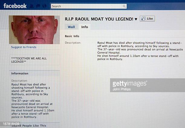 Screen Shot Of The 'RIP Raoul Moat You Legend' Facebook Page That Has More Than 38000 Members