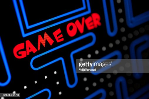 Screen showing that the Game is Over : Stock Photo