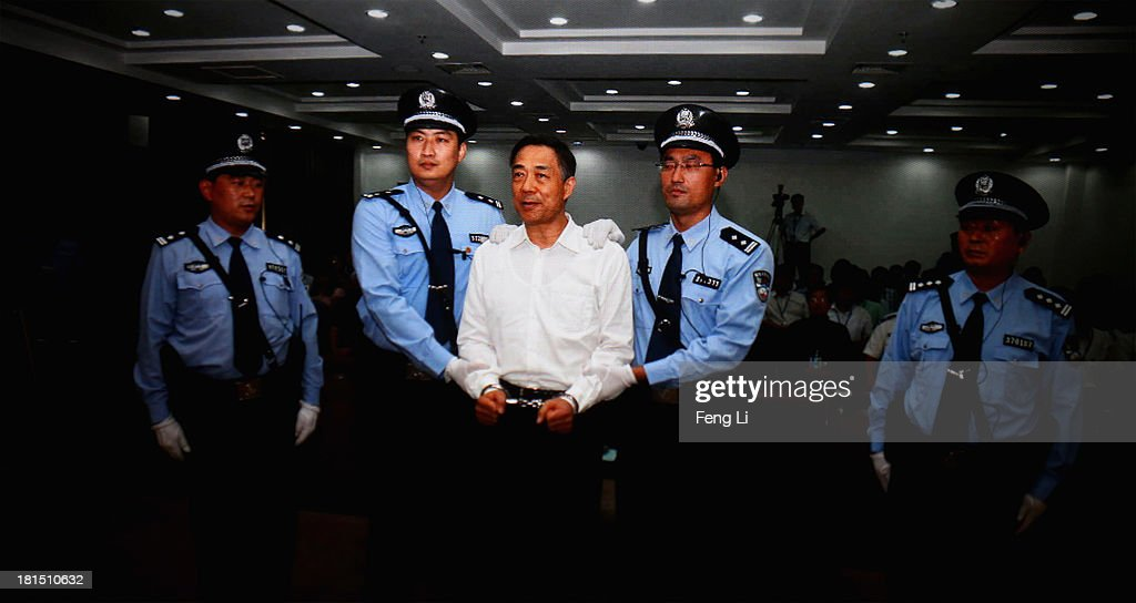 A screen shows the picture of the sentence of Chinese politician <a gi-track='captionPersonalityLinkClicked' href=/galleries/search?phrase=Bo+Xilai&family=editorial&specificpeople=225006 ng-click='$event.stopPropagation()'>Bo Xilai</a> (Center) on September 22, 2013 in Beijing, China. The Jinan Intermediate People's Court announced <a gi-track='captionPersonalityLinkClicked' href=/galleries/search?phrase=Bo+Xilai&family=editorial&specificpeople=225006 ng-click='$event.stopPropagation()'>Bo Xilai</a>, former member of the CPC Central Committee Political Bureau, was sentenced to life imprisonment on Sunday for bribery, embezzlement and abuse of power.