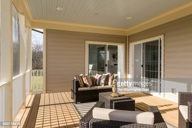 Screened In Porch on the Churchill Classics Russell Branch model on February 23 2017 in Poolesville Maryland