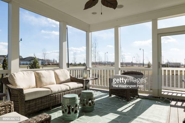 Screened in Porch on the Vivien model at The Villages at Two Rivers on December 15 2016 in Odenton Maryland