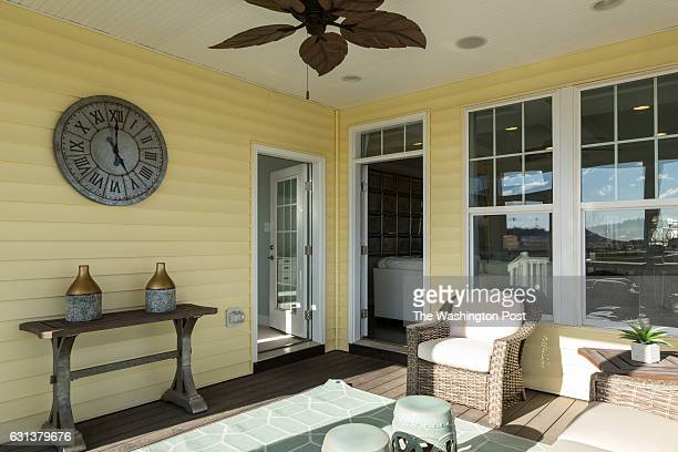 Screened in Porch with doors to the Living Area and Master Bedroom on the Vivien model at The Villages at Two Rivers on December 15 2016 in Odenton...