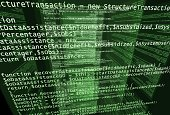 Screens with program code