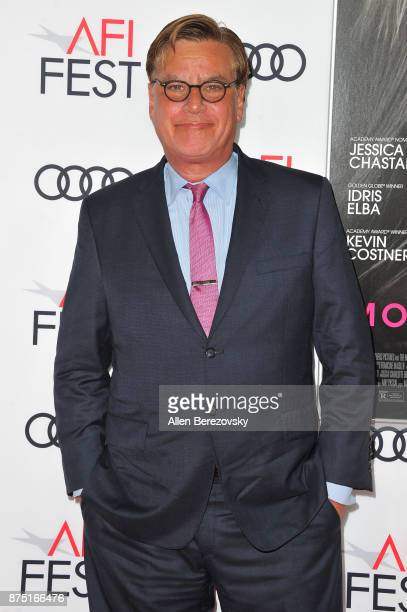Screenwriter Aaron Sorkin attends AFI FEST 2017 Closing Night Gala Screening of 'Molly's Game' at TCL Chinese Theatre on November 16 2017 in...