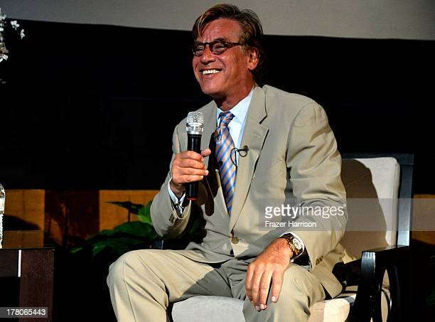 Screenwriter Aaron Sorkin attends BAFTA LA's 'Behind Closed Doors' With Aaron Sorkin on August 26 2013 in Los Angeles California