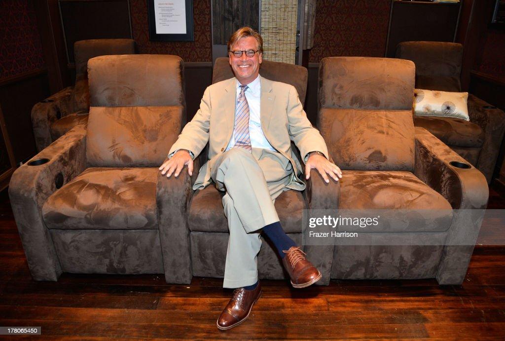 Screenwriter Aaron Sorkin attends BAFTA LA's 'Behind Closed Doors' With Aaron Sorkin on August 26 2013 in Los Angeles California