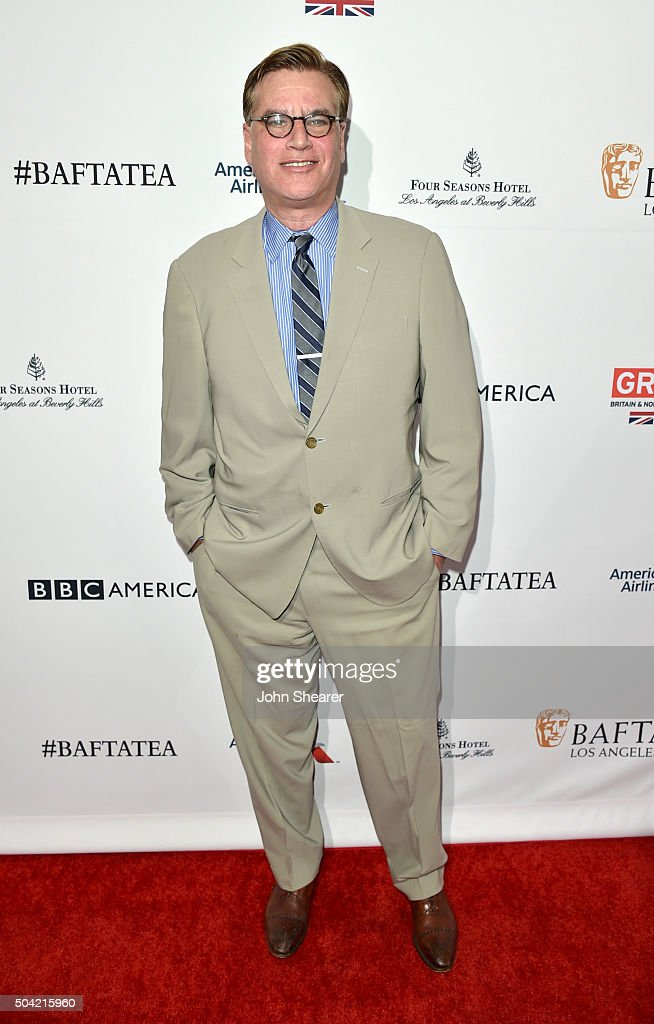 Screenwriter Aaron Sorkin attends the BAFTA Awards Season Tea Party at Four Seasons Hotel Los Angeles at Beverly Hills on January 9 2016 in Los...