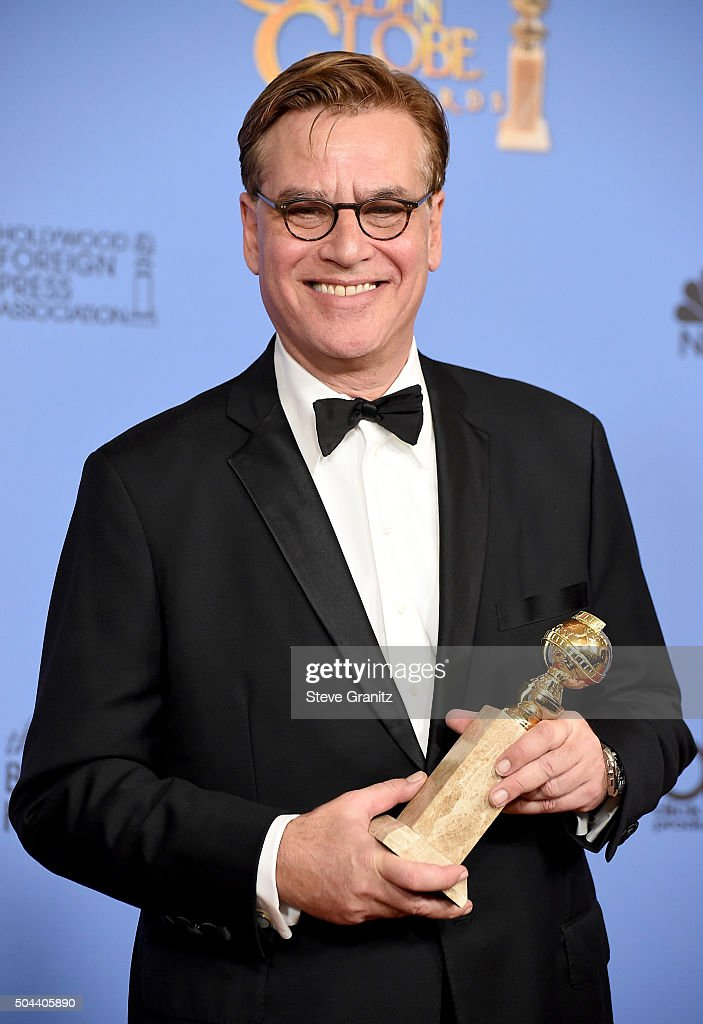 Screenwriter Aaron Sorkin winner of the award for Best Screenplay Motion Picture for 'Steve Jobs' poses in the press room during the 73rd Annual...