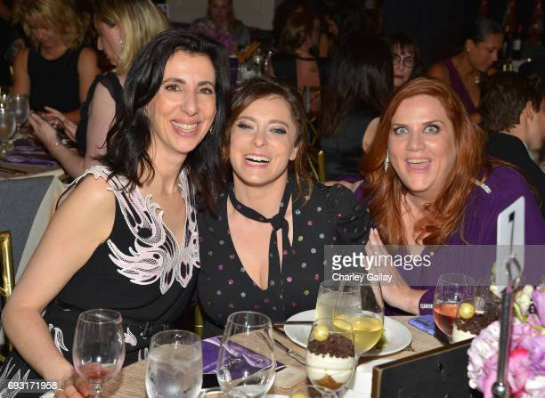 Screenwriter Aline Brosh McKenna Actress Rachel Bloom and Donna Lynne Champlin attend the 42nd Annual Gracie Awards at the Beverly Wilshire Hotel on...