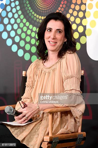 """Screenwriter Aline Brosh McKenna speaks onstage during the """"Crazy ExGirlfriend"""" panel at Entertainment Weekly's PopFest at The Reef on October 29..."""