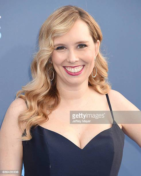 Screenwriter Allison Schroeder arrives at The 22nd Annual Critics' Choice Awards at Barker Hangar on December 11 2016 in Santa Monica California