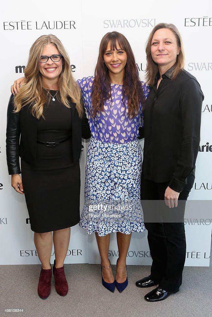 Screenwriter and director Jennifer Lee Rashida Jones and VP of Original Content Netflix Cindy Holland attend Marie Claire's SecondAnnual New Guard...