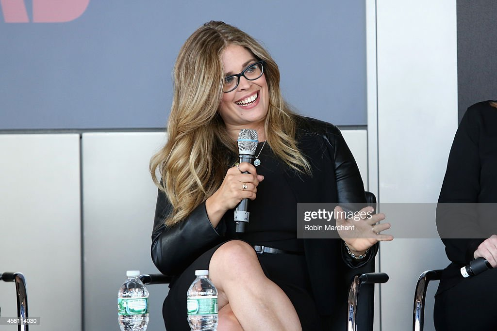 Screenwriter and director Jennifer Lee speaks on a panel at Marie Claire's SecondAnnual New Guard Lunch at Hearst Tower on October 30 2014 in New...