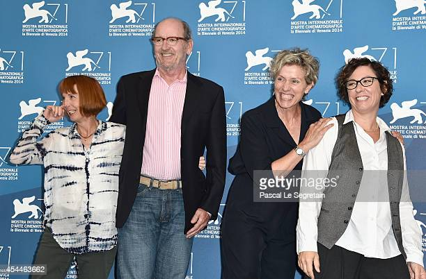 Screenwriter and procucer Jane Anderson actors Richard Jenkins Frances McDormand and director Lisa Cholodenko attend the 'Olive Kitteridge' photocall...