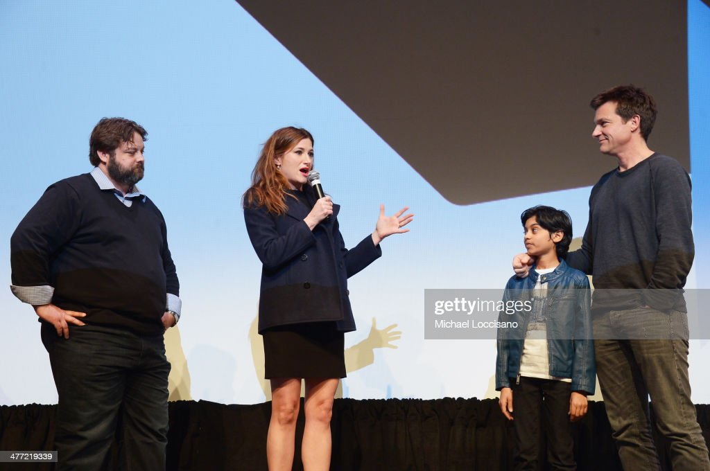 Screenwriter Andrew Dodge, actress <a gi-track='captionPersonalityLinkClicked' href=/galleries/search?phrase=Kathryn+Hahn&family=editorial&specificpeople=221548 ng-click='$event.stopPropagation()'>Kathryn Hahn</a>, actor Rohan Chand and actor/director <a gi-track='captionPersonalityLinkClicked' href=/galleries/search?phrase=Jason+Bateman&family=editorial&specificpeople=204774 ng-click='$event.stopPropagation()'>Jason Bateman</a> take part in a Q&A following the 'Bad Words' Premiere during the 2014 SXSW Music, Film + Interactive Festival at Topfer Theatre at ZACH on March 7, 2014 in Austin, Texas.