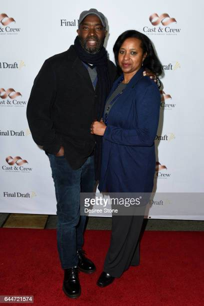 Screenwriter Antwone Fisher and guest attend the 12th Annual Final Draft Awards at Paramount Theatre on February 23 2017 in Hollywood California