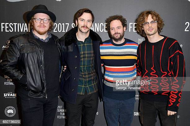 Screenwriter Ben York Jones actor Nicholas Hoult director Drake Doremus and actor Matthew Gray Gubler attend the 'Newness' Premiere on day 7 of the...