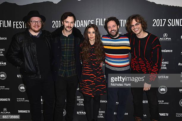 Screenwriter Ben York Jones actors Nicholas Hoult Laia Costa Drake Doremus and Matthew Gray Gubler attend the 'Newness' Premiere on day 7 of the 2017...