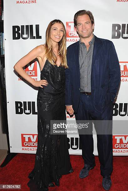 Screenwriter Bojana Jankovic and actor Michael Weatherly attend TV Guide Magazine Celebrates CBS' Michael Weatherly at HGU New York on October 5 2016...