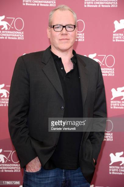 Screenwriter Bret Easton Ellis attends 'The Canyons' Photocall during The 70th Venice International Film Festival at Palazzo del Casino on August 30...