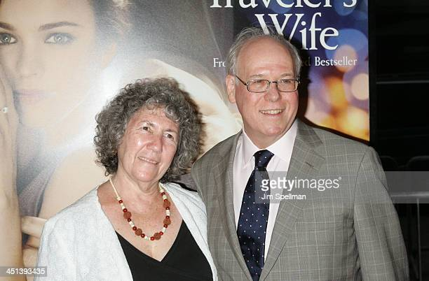Screenwriter Bruce Joel Rubin and wife Blanche Rubin attend the premiere of The Time Traveler's Wife at the Ziegfeld Theatre on August 12 2009 in New...
