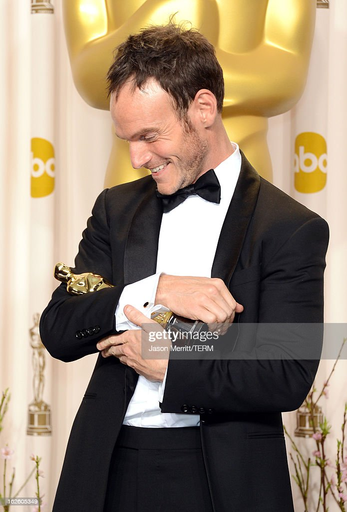 Screenwriter <a gi-track='captionPersonalityLinkClicked' href=/galleries/search?phrase=Chris+Terrio&family=editorial&specificpeople=208138 ng-click='$event.stopPropagation()'>Chris Terrio</a>, winner of the Best Adapted Screenplay award for 'Argo,' poses in the press room during the Oscars held at Loews Hollywood Hotel on February 24, 2013 in Hollywood, California.