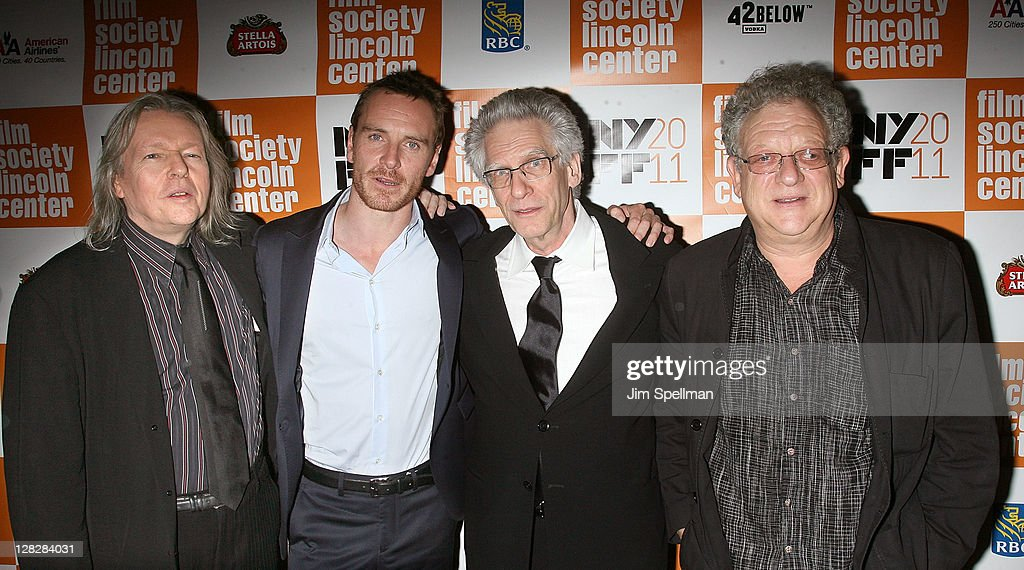 Screenwriter <a gi-track='captionPersonalityLinkClicked' href=/galleries/search?phrase=Christopher+Hampton&family=editorial&specificpeople=570258 ng-click='$event.stopPropagation()'>Christopher Hampton</a>, actor <a gi-track='captionPersonalityLinkClicked' href=/galleries/search?phrase=Michael+Fassbender&family=editorial&specificpeople=4157925 ng-click='$event.stopPropagation()'>Michael Fassbender</a>, director <a gi-track='captionPersonalityLinkClicked' href=/galleries/search?phrase=David+Cronenberg&family=editorial&specificpeople=214619 ng-click='$event.stopPropagation()'>David Cronenberg</a> and producer <a gi-track='captionPersonalityLinkClicked' href=/galleries/search?phrase=Jeremy+Thomas+-+Film+Producer&family=editorial&specificpeople=629756 ng-click='$event.stopPropagation()'>Jeremy Thomas</a> attend the 49th annual New York Film Festival presentation of 'A Dangerous Method' at Alice Tully Hall, Lincoln Center on October 5, 2011 in New York City.