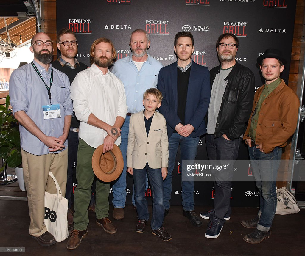 Screenwriter Clay McLeod Chapman, producers <a gi-track='captionPersonalityLinkClicked' href=/galleries/search?phrase=Daniel+Noah&family=editorial&specificpeople=10948795 ng-click='$event.stopPropagation()'>Daniel Noah</a> and Josh C. Waller, actors <a gi-track='captionPersonalityLinkClicked' href=/galleries/search?phrase=David+Morse&family=editorial&specificpeople=867350 ng-click='$event.stopPropagation()'>David Morse</a> and Jared Breeze, director Craig William Macneill, actor <a gi-track='captionPersonalityLinkClicked' href=/galleries/search?phrase=Rainn+Wilson&family=editorial&specificpeople=534993 ng-click='$event.stopPropagation()'>Rainn Wilson</a> and producer <a gi-track='captionPersonalityLinkClicked' href=/galleries/search?phrase=Elijah+Wood&family=editorial&specificpeople=171364 ng-click='$event.stopPropagation()'>Elijah Wood</a> attend the Fast Company Grill During SXSW - Day 2 on March 15, 2015 in Austin, Texas.