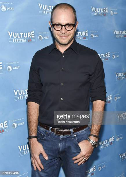 Screenwriter Damon Lindelof attends the 'Discuss TV' panel at Vulture Festival Los Angeles at Hollywood Roosevelt Hotel on November 18 2017 in...