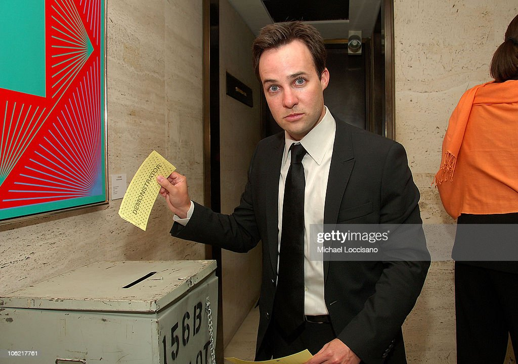 Screenwriter Danny Strong casts a ballot at the after party for the New York premiere of HBO Films' 'Recount', at The Four Seasons Restaurant in New York City on May 13, 2008.