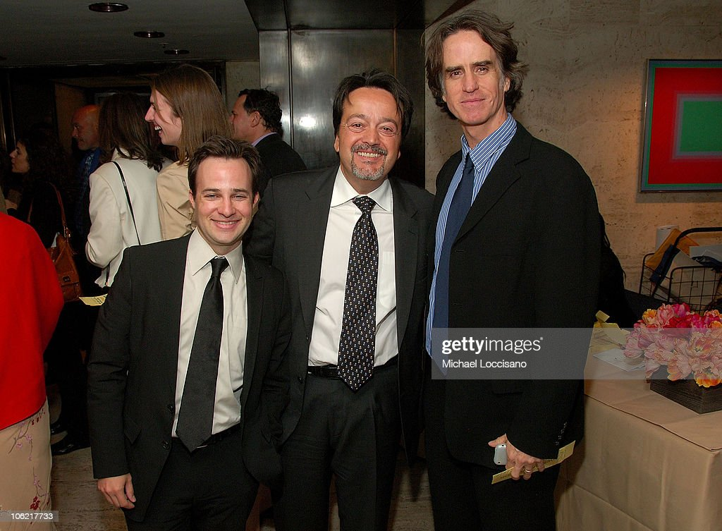 Screenwriter Danny Strong, executive producer Len Amato and director and executive producer <a gi-track='captionPersonalityLinkClicked' href=/galleries/search?phrase=Jay+Roach&family=editorial&specificpeople=2576157 ng-click='$event.stopPropagation()'>Jay Roach</a> attend the after party for the New York premiere of HBO Films' 'Recount', at The Four Seasons Restaurant in New York City on May 13, 2008.