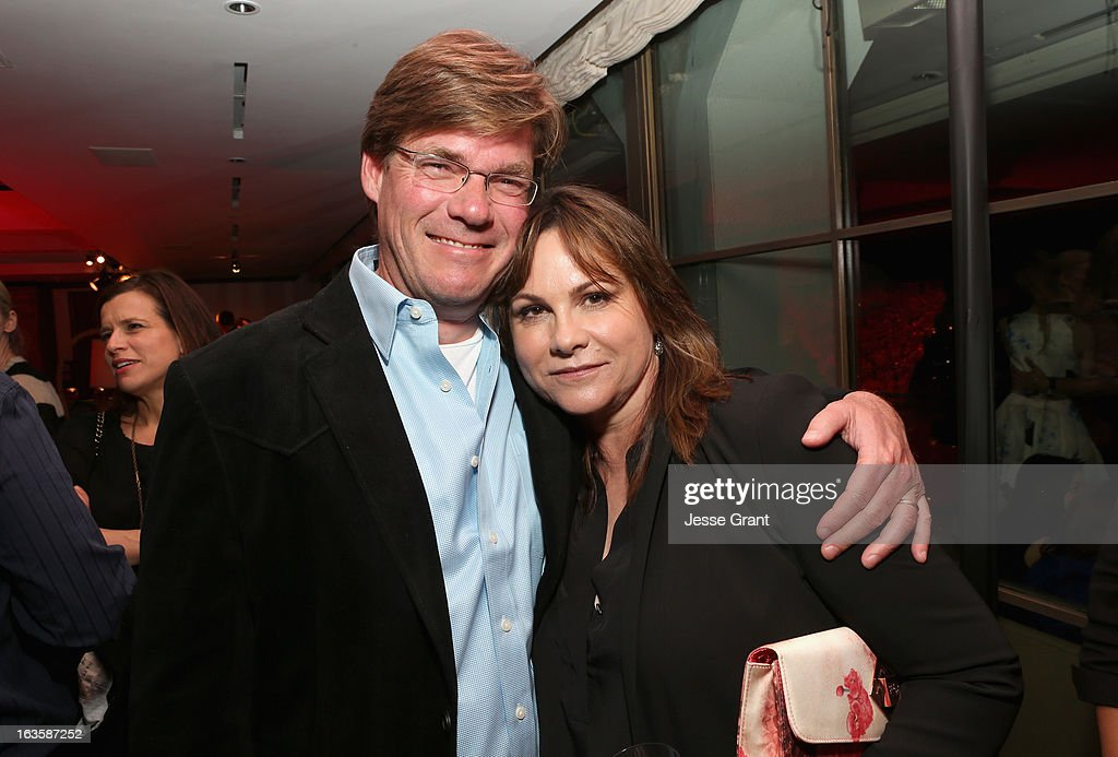 Screenwriter David Hudgins and producer Kerry Ehrin attend A&E's 'Bates Motel' Premiere Party on March 12, 2013 in West Hollywood, California.
